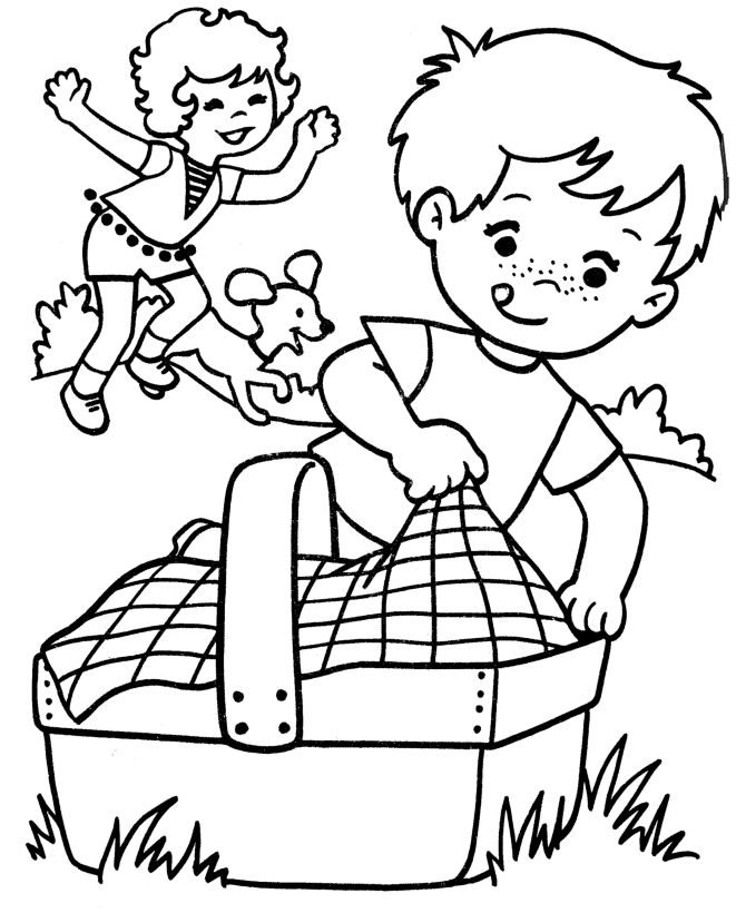 easter spring coloring pages - photo#7