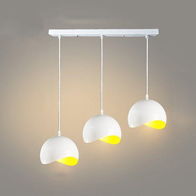 Lampada a sospensione lunga in alluminio a LED a tre
