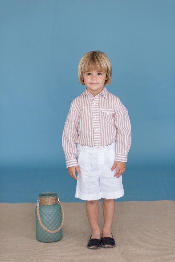 17dd7881f Conjunto para niño camisa rayas y pantalón de Dolce Petit