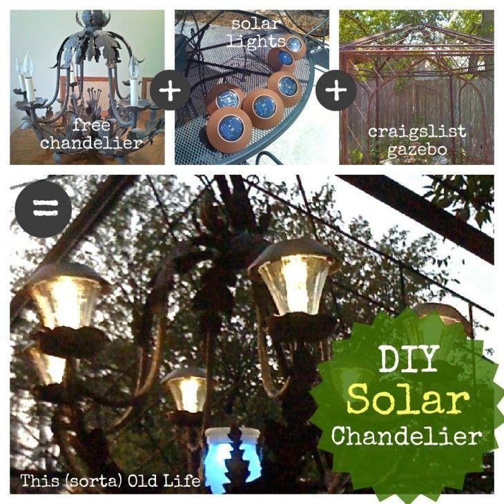 This (sorta) Old Life - DIY solar chandelier