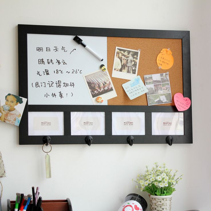 Nytex hanging magnetic whiteboard cork photo frame multifunctional combination light message board $69.00