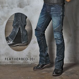 UglyBROS Featherbed. moto jeans. with removable pads for protection.