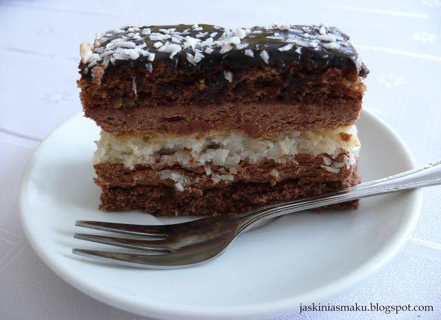 Jaskinia Smaku: Ciasto czekoladowo- kokosowo- orzechowe