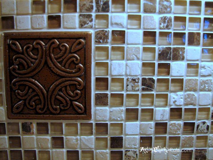 Kitchen tile backsplash do it yourself large artsy and for Do it yourself kitchen backsplash