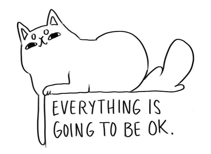 "paperforbreakfast: "" Some relaxed affirmation cats in case you need them. """