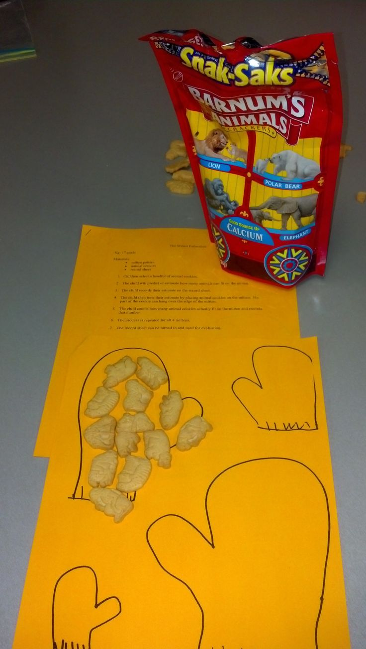 """""""The Mitten""""...exploring different sized mittens and how many animals they can hold, predict then see"""