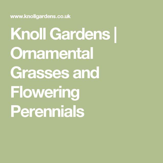 Knoll Gardens   Ornamental Grasses and Flowering Perennials