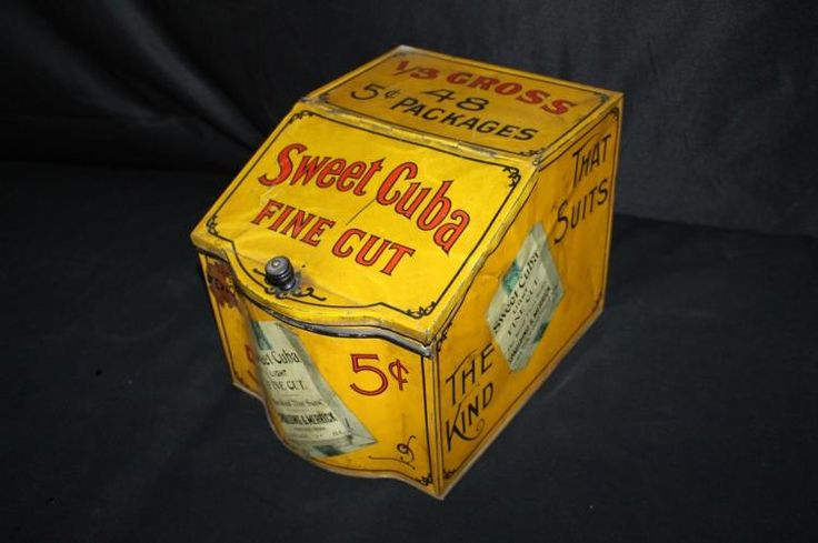 Come Dec. 1, Millers Auction Co. will present this vintage Sweet Cuba 5 cent tobacco tin bin as part of its Large Advertising & Antique Auction. Online bidding is available through AuctionZip. http://www.auctionzip.com/auction-lot/SWEET-CUBA-5-CENT-TOBACCO-COUNTRY-STORE-TIN-BIN_EB740EEA09/
