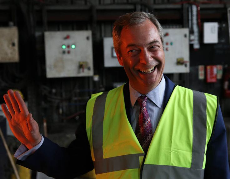 UKIP party leader Nigel Farage in pictures.
