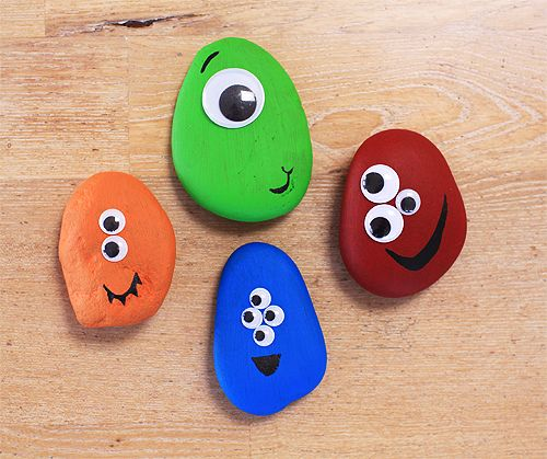 Do you remember pet rocks? Oh the nostalgia. Try these rock monsters with your kids.