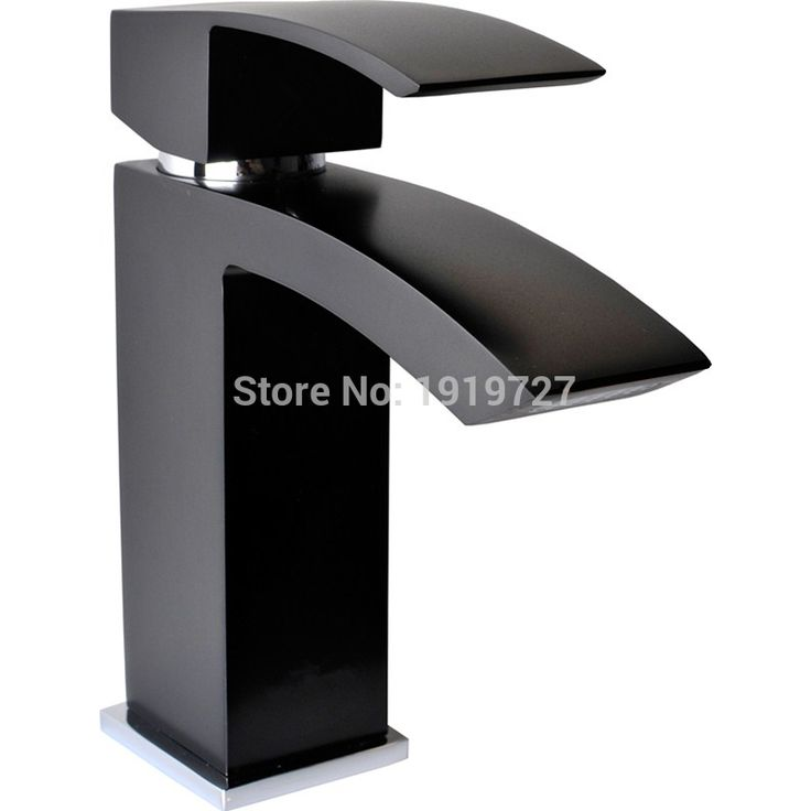 2017 Wholesale Promotions European 100% Solid Copper Hot Cold Mixer Tap Matte Black Waterfall Bathroom Vessel Wash Basin Faucet #Affiliate