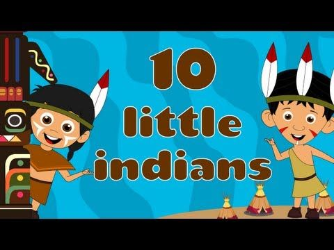 Ten Little Indians - Nursery Rhymes also angels,  (counting backwards)