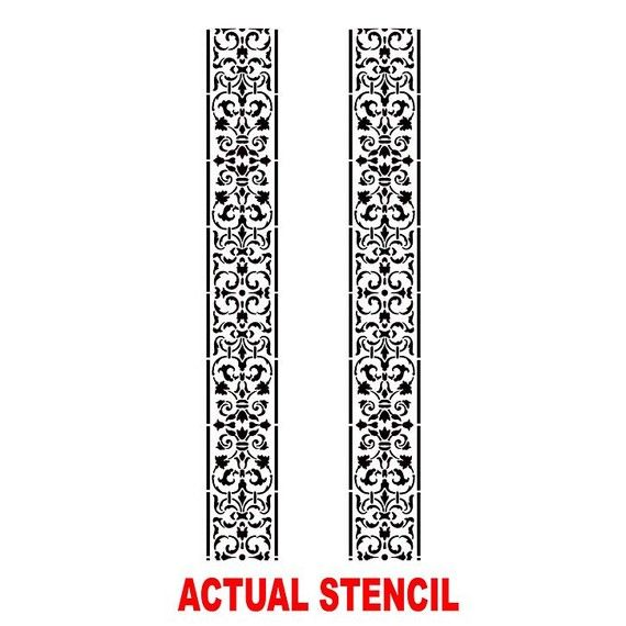 Wall Stencil Arabesque Stripe Elegant by CuttingEdgeStencils