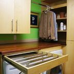 Laundry room sports lockers - Modern - Laundry Room - denver - by Quality Custom Craftsman