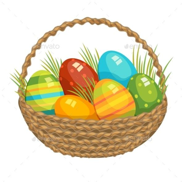 Easter Vector Happy Easter Wishes Easter Baskets Easter Wishes