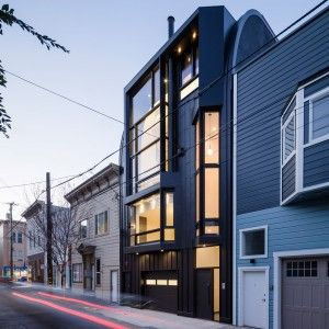 Stephen+Phillips+clads+modern+San+Francisco+townhouse+in+black+zinc