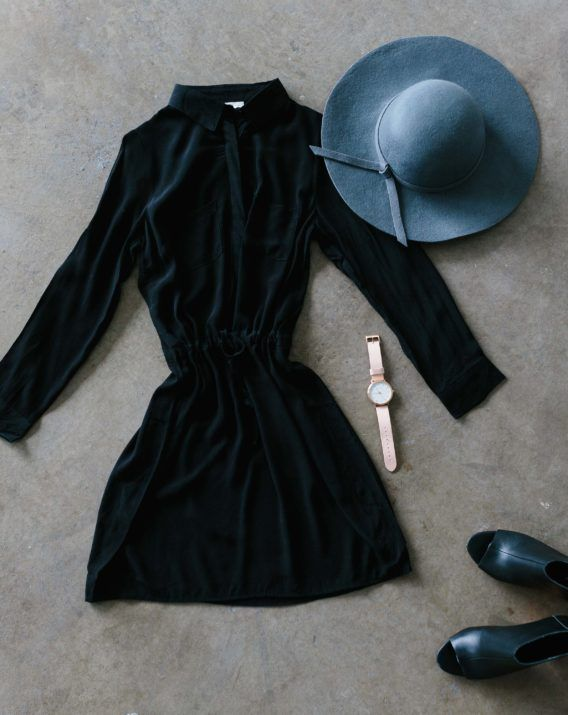 Ally Shirt Dress, Grey Wool Hat - Shop the look at Blossom & Glow Maternity. Clothing for pregnancy, breastfeeding and beyond.