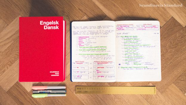 Learning Danish and Perfectionism - Danish Dictionaries and Work books with the Golden Rule | Scandinavia Standard