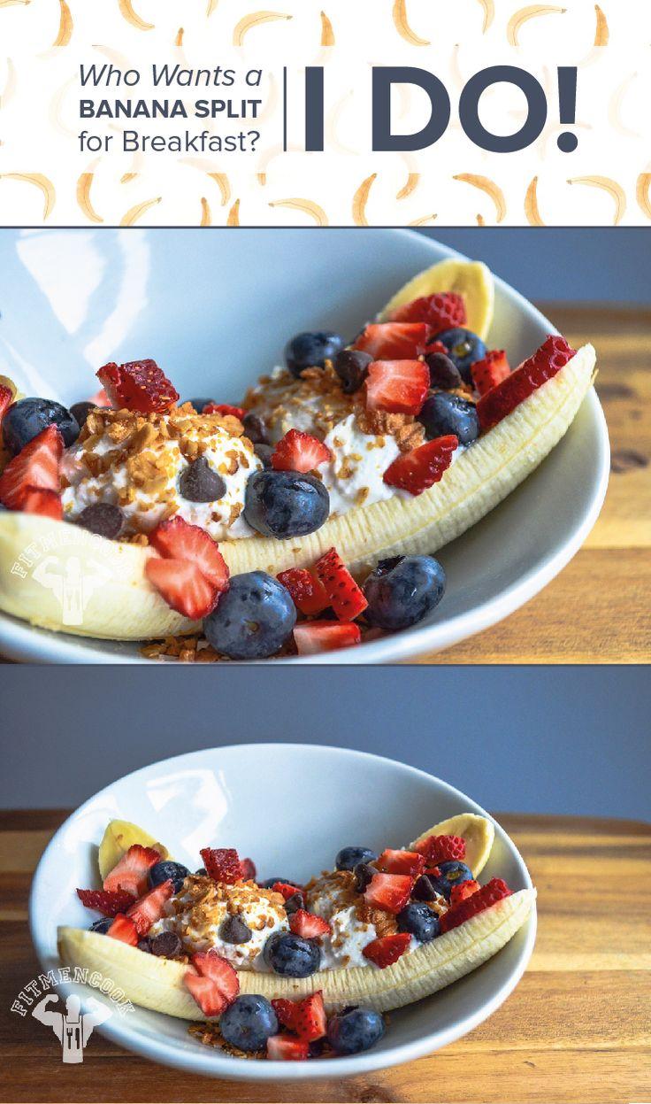 The Best Ever Guilt-Free, Protein-Packed Banana Split Recipe
