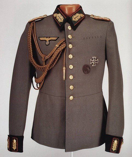 I like this picture of a german military leaders jacket because again it reminds me of the war and the army and i could use stuff like this as inspiration for my garment.