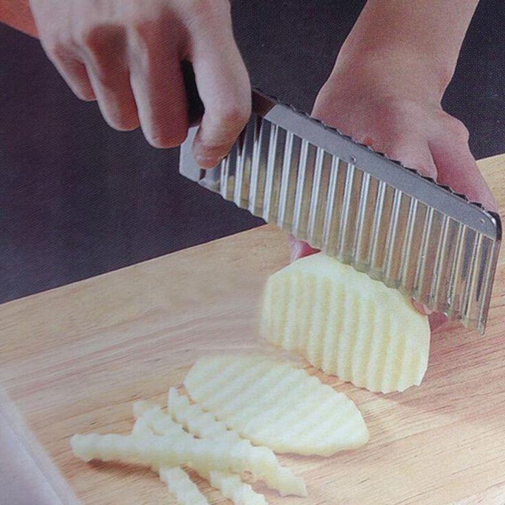 2 tamaño de cortar de la patata cortador de la patata cuchillo utensilios de cocina accesorios herramientas de cocina herramienta de Corte Chip vegetal fruta del Acero Inoxidable(China (Mainland))