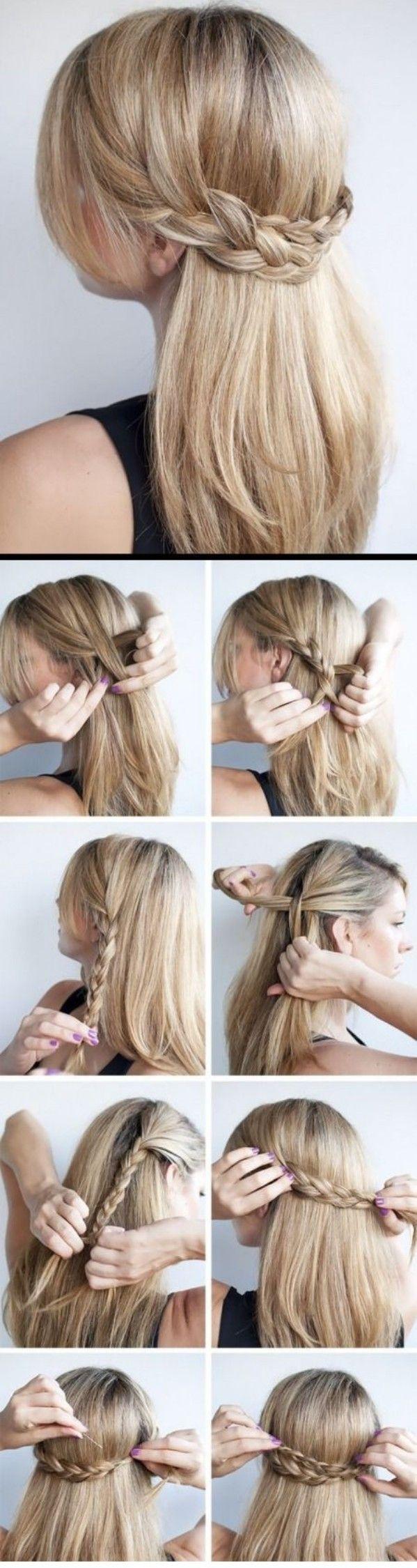 diadema trasera peinado facil
