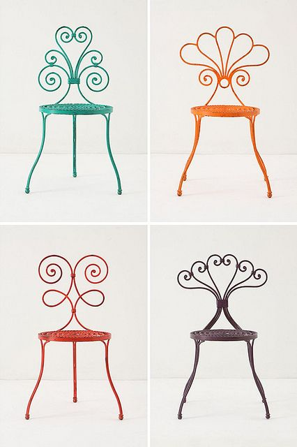 anthropologie chairs by the style files, via Flickr  ... is it too much to ask these chairs for my birthday? :D