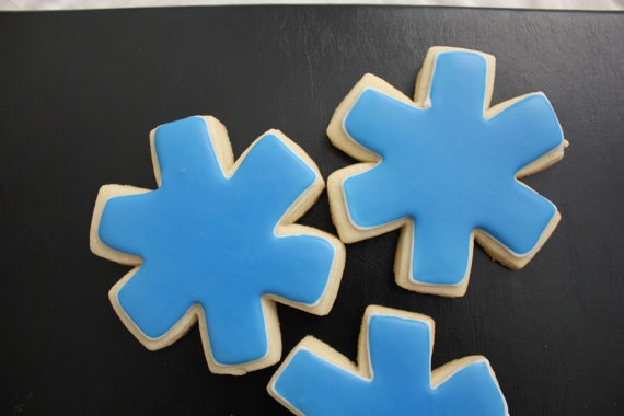 Star of Life Sugar Cookies by TheSugarCo on Etsy, $24.00