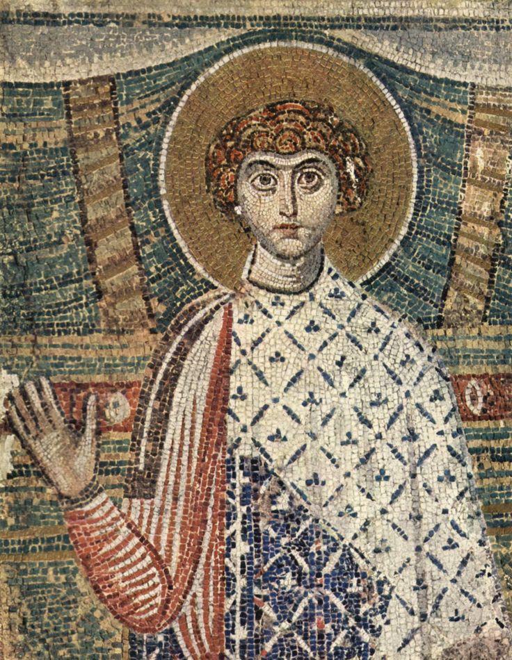 Basilica di San Demetrio, Salonicco, Greccia. Il mosaico del VII secolo.  620 circa