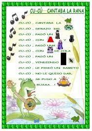 Resultado de imagen de letra de canciones infantiles para preescolar