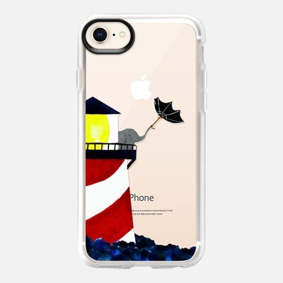 Lone Lighthouse Keeper - Classic Grip Case @casetify #casetify #elephant #phone #iphone #phonecase #lighthouse umbrella