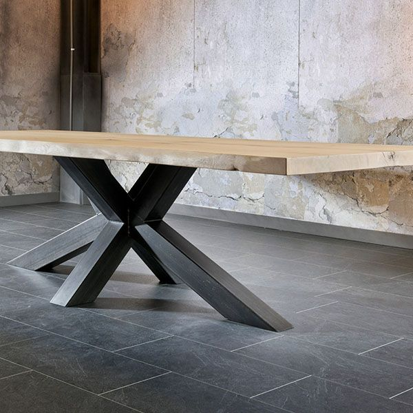Gloria - Trunk Table   Tables   Living Room   The stylish Gloria Trunk table will be a stunning addition to a design driven home. Its solid oak top and rustic metal legs give it its impressive look. The trunk is available in 2 sizes, ideal for finding the perfect fit for your home.