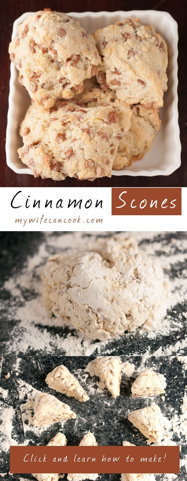 A perfect Sunday morning in our house includes Cinnamon Scones. These breakfast scones have definitely landed amongst our favorite recipes...a signature dish. A huge key to this dish are the cinnamon chips. We tried several brands but now only use cinnamon chips from King Arthur Flour. We love the quality of their ingredients and the end result is a cinnamon chip scone that is out of this world good! Are you in search of breakfast paradise? These scones are calling your name!