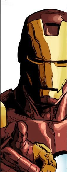 Mike Deodato, Jr. Iron man. Colors by Rain.