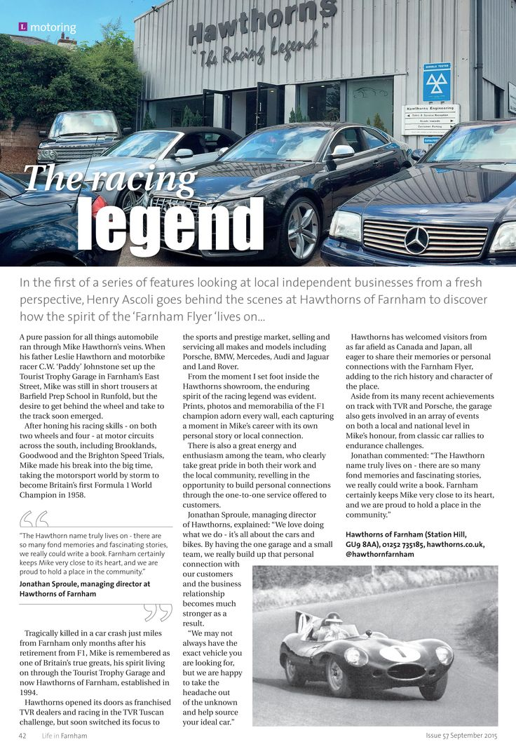 "The racing legend ~ How the spirit of the ""Farnham Flyer"" lives on... #locallife #Farnham #Surrey #motorsport #legend #inspiration"