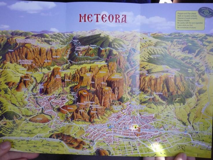 mapka Meteory