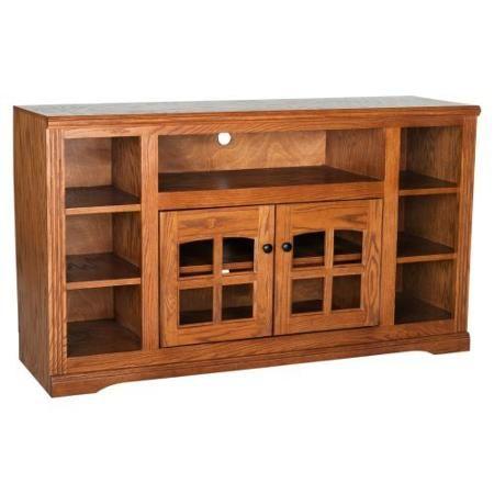 Eagle Furniture Oak Ridge 55 In. Plain Glass Thin Screen TV Stand