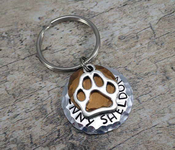 Bronze Dog Tag - Bronze Pet Tag - Bronze Cat Tag - Dog ID Tags - Dog Tags - Textured Pet Tags - Paw Pet Tag - Paw Dog Tag - Layered Pet Tags
