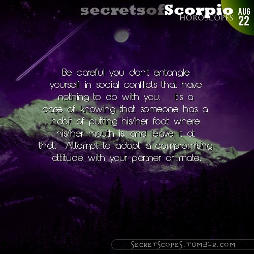 Scorpio Horoscope. Want tomorrow's Scorpio horoscope?   Visit iFate.com today!