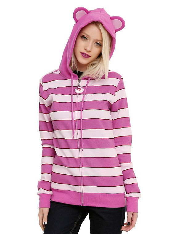 Disney Alice In Wonderland Cheshire Cat Girls Costume Hoodie, BLACK