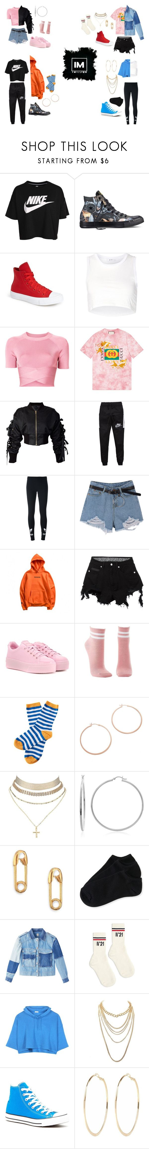 """1million studio perfect outfits"" by isabellaautiero on Polyvore featuring moda, NIKE, Converse, Julien David, T By Alexander Wang, Gucci, storets, adidas Originals, County Of Milan y Kenzo"