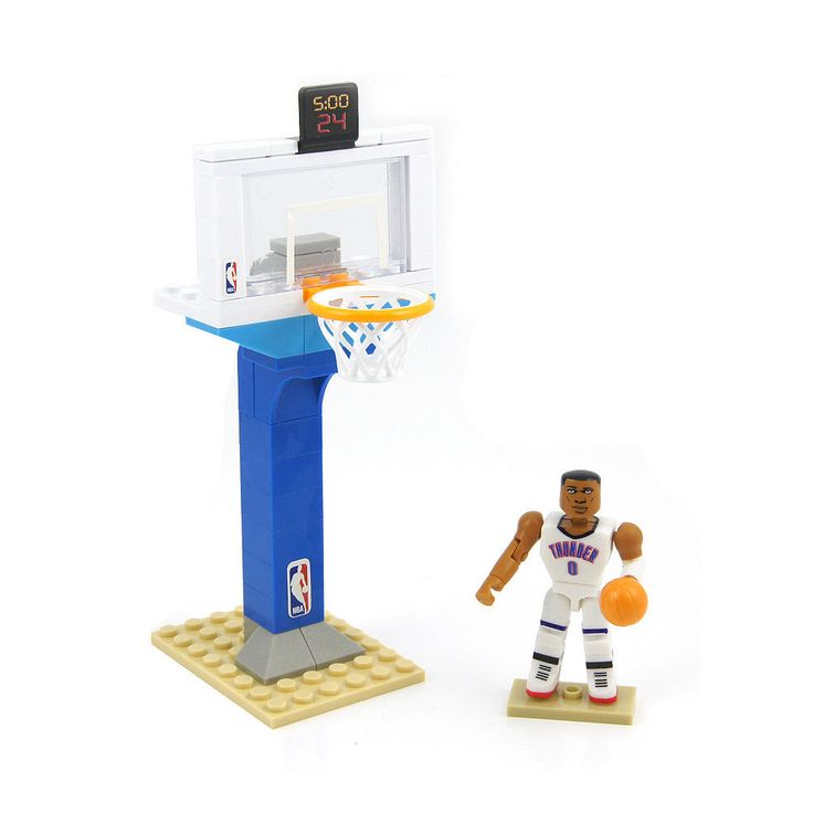 "Build and Ball with the the C3 Game on series! Collect your favorite NBA Superstars, build the hoop and get your ""Game On!"". Includes: TBD pcs, figure and accessories.<br><br>The Bridge Direct C3 NBA Game On Series Hoop Playset - Russell Westbrook Features:<br><ul><li>Buildable NBA Playsets</li><br><li>Collectible construction figures!</li></ul>"