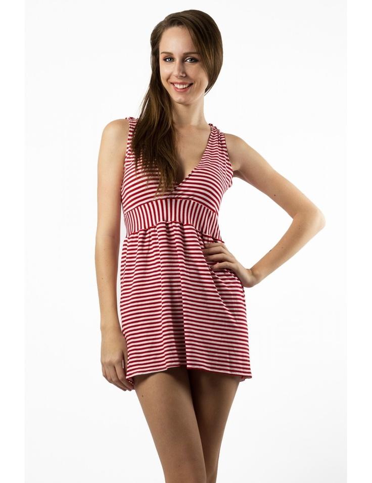 Zega Store - Rochie Mushroom, culoare alb cu rosu - Femei, Pijamale