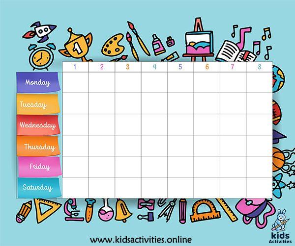 Best 7 School Timetable Template In 2020 School Timetable