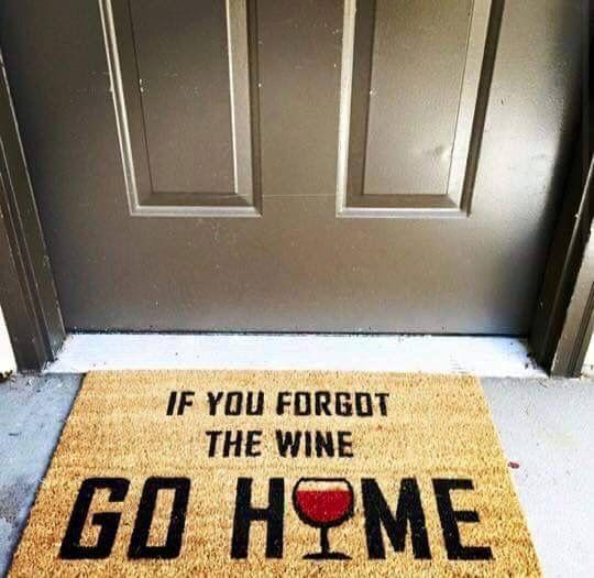 Se você esqueceu o vinho, vá para casa! #decor #wine