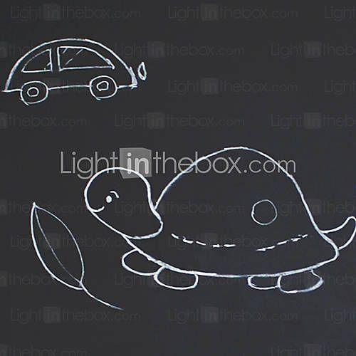 diy adesivos de parede removível lavável amigáveis gizes de decalques de parede quadro-negro ambientais incluídos de 997079 2016 por R$2,43