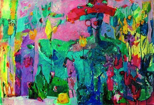 Dojrzłe usta | The ripe mouth, 60x90 cm, oil on paper Arches®; signed: B.Wąsowska; © Beata Wąsowska, 1993 [nr kat. 13-02]