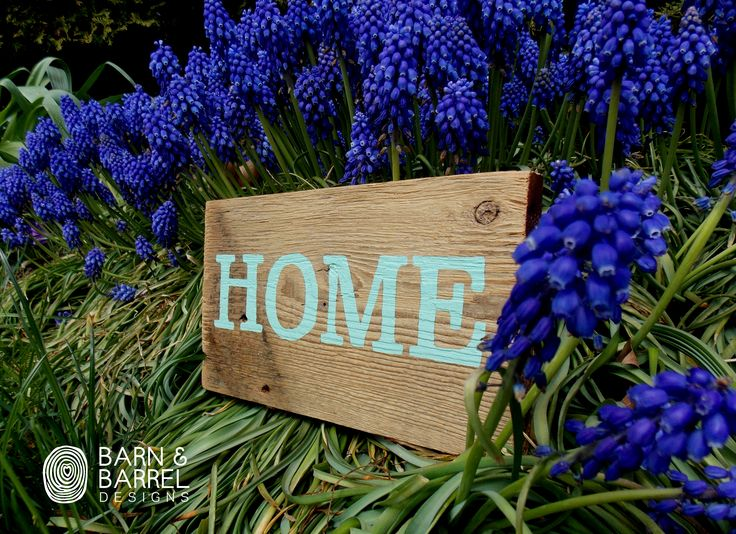 Beautiful small hand painted barnwood sign that welcomes you home!!