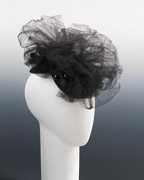 Elsa Schiaparelli summer 1940 | Evening hat | French | The Met
