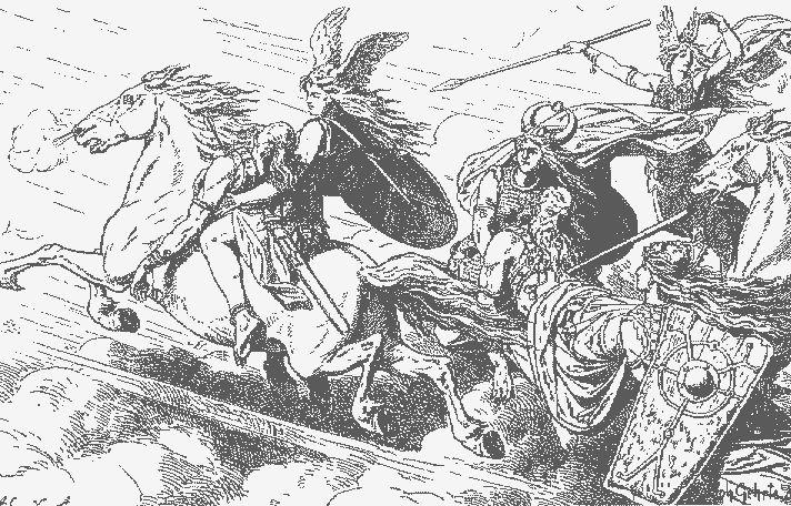 Valkyries: Choosers of the Slain illustration